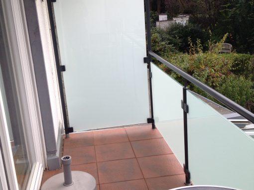 Beschichtetes Glasgeländer mit Seitenschutz