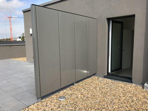 Stahlkonstruktion Sichtschutz